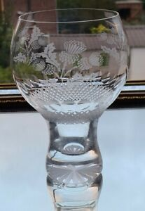 Fine Quality Large Goblet/Gin Glass With Scottish Thistle Design 540 ml
