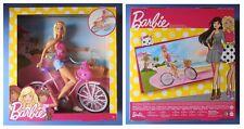 Barbie sportiva con bicicletta ciclista casco rosa bici originale Mattel DJR54