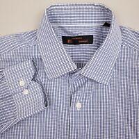 Ben Sherman Dress Shirt Men's Size Medium 15 32/33 Check Blue White