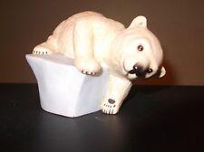 """Brrrrr"" Polar Bear Cub Figurine by Eva Dalberg"