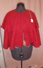 Dark Red Faux Suede Short Cape with Mantle for Teen or Adult FSC31