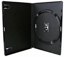 More details for 10 x genuine amaray single dvd black cases 14mm spine