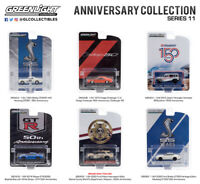ANNIVERSARY COLLECTION SERIES 11, 1/64 DIECAST BY GREENLIGHT 6 DIFFERENT MODELS