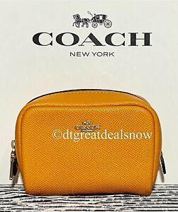 NEW COACH Mini Boxy Cosmetic Case Sunbeam 3587
