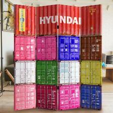 Paravento Separe 4 Pannelli Con Stampa Fronte Retro Hyundai Container Divisorio