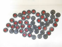 MES-56003Wiking 1:87 50 St. LKW Räder rote Felge guter Zustand
