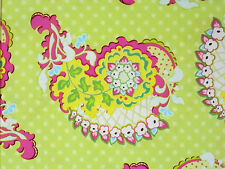 1YD POP GARDEN Paisley HB03 Lime Polka Dots Heather Bailey Free Spirit Fabric