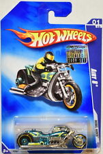 HOT WHEELS 2009 REBEL RIDES AIRY 8 #01/10 BLUE FACTORY SEALED