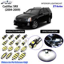 21 Bulbs 6000K White Lamp LED Interior Dome Light Kit For Cadillac SRX 2004-2009