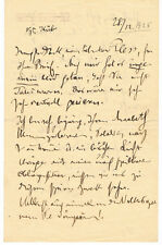 ALBAN BERG - Composer of Wozzeck - AUTOGRAPH LETTER SIGNED to HANS PLESS - 1925