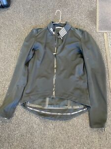 Rapha Pro Team Black Soft Shell Winter Cycling Jacket Size Large