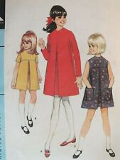 Sweet VTG 67 McCALLS 8903 Girls Inverted Pleat Dress in 3 Versions PATTERN 8/26B