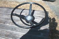 OE 3 spoke black steering wheel with horn button# 9745768,67-68 Camaro, Nova