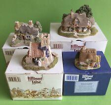 LILLIPUT LANE Cottage English Collection of Miniature Masterpieces - Job Lot X4