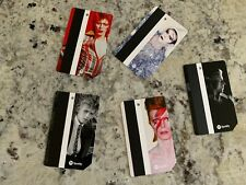 Rare Collectors Items Music Memorabilia- 5 David Bowie Nyc Metro Subway Card Lot