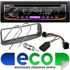 Peugeot 206 JVC CD MP3 Usb Aux Bluetooth estéreo de coche & Kit De Montaje Volante