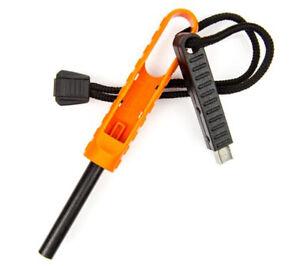 Exotac polySTRIKER XL Orange and Black Ferro Rod Fire Starter Carbide Striker