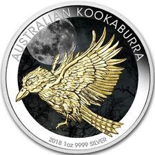 AUSTRALIA 2018 $1 KOOKABURRA 1 Oz 9999 SILVER COLOR MINTAGE 100 PCS BOX & COA v2