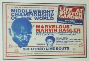 Marvin Hagler Boxing Fight Poster 1983 Boston Garden  Marvelous - Hearns - Duran