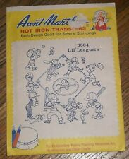 Aunt Martha's Hot Iron Transfers Lil' Leaguers  # 3804 Embroider Paint