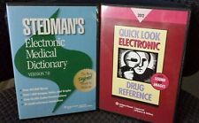 LOT OF 2 Electronic CDs QUICK LOOK DRUG REFERENCE & STEDMAN'S MEDICAL DICTIONARY