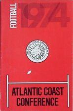 1974 ATLANTIC COAST CONFERENCE FOOTBALL MEDIA GUIDE