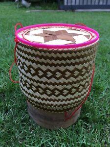 Kratip Thai Handicraft Sticky Rice Bamboo Basket Box container #1