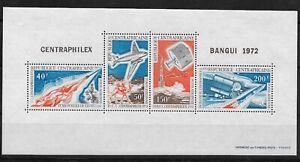 L3219 BANGUI 1972 CENTRAPHILEX SOUV SHEET REPUBLIQUE CENTRAFRICAINE AVIATION