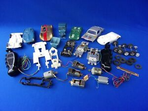 Lot of Various Slot Car Model Parts Chassis Bodies 1/32 & 1/43 Scale Strombecker