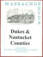 Martha's Vineyard Nantucket Duke's County Massachusetts 1839 Barber MA history