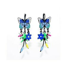 Lol Bijoux - Boucles d'Oreilles Papillon - Une Brise d'Eté - Bleu