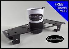 Vespa PX T5 LML floor board rack CUP HOLDER Gloss black CLASSIC RACKS
