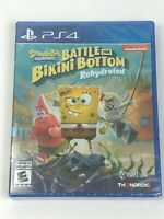 New & Sealed Spongebob Squarepants Battle for Bikini Bottom Rehydrated PS4