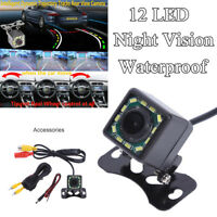 Intelligent Dynamic Trajectory 12LED Car Rearview Camera Reverse Parking NTSC