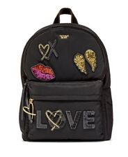 Victorias Secret Backpack RUNWAY PATCH CITY BLACK BLING - NEW