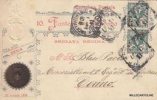 * MILITARE - 10 Fanteria Livorno Brigata Regina Medaglia Valore Sesia 1859-1907