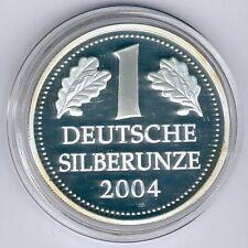 Deutschland 1OZ./UNZE 31,1g 999er Feinsilber Medaille 1 Deutsche ... 2004, PP-