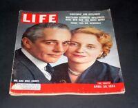 LIFE MAGAZINE APRIL 30 1956 MR & MRS DANIEL ( MARGARET TRUMAN )
