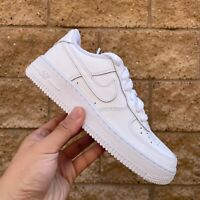 NIKE AIR FORCE 1 GS KID'S WHITE LOW-TOP CLASSIC CASUAL SNEAKER 314192-117