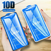 For iPhone 11 Pro Max XS XR 10D Full Cover Real Tempered Glass Screen Protector