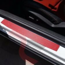 2010-2015 Camaro RED Carbon Fiber Door Jamb Decal kit - Chevy cover kick plate