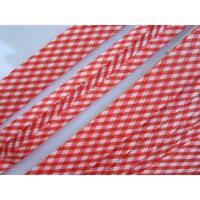 10 METER Schrägband Rot weiß Baumwolle 1.5cm BA 016 N