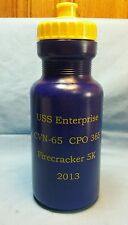 USS ENTERPRISE CVN-65 CPO 365 FIRECRACKER 5K 2013 32oz. WATER BOTTLE