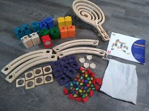 Hape Quadrilla Wooden Marble Construction Basic Set 95 Pieces Instructions