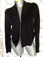Michael Kors Sweater Black V-Neck Size M Medium Women's Top Open Cardigan