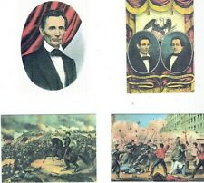 CURRIER & IVES CIVIL WAR + RAILS & SAILS 2 AMERICAN HISTORY FACT SETS = 32 CARDS