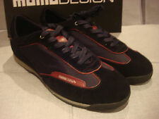 MOMO DESIGN MEN'S SEBRING MS002642 BLACK BURGUNDY SHOES SIZE 9 - BRAND NEW