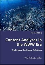 Content Analyses in the Www Er by Jian Zhang (2007, Paperback)
