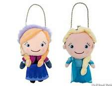 Disney Store Authentic Elsa and Anna Plush Doll Coin Purse Set for Girls NWT