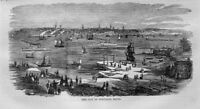 CITY OF PORTLAND MAINE VIEW NAUTICAL BOATS CLIPPER SHIPS SAILBOATS STEAMSHIPS